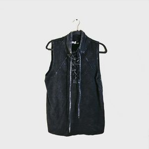 BUCKLE (GILDED INTENT) Lace Up Tank Top Grey